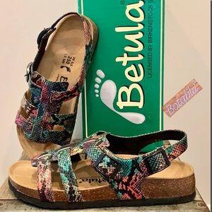BETULA by BIRKENSTOCK Rome Strappy Snake Sandals